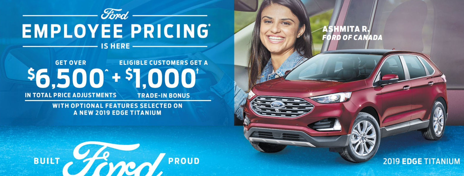 Employee Pricing Ford Edge Smiths Falls