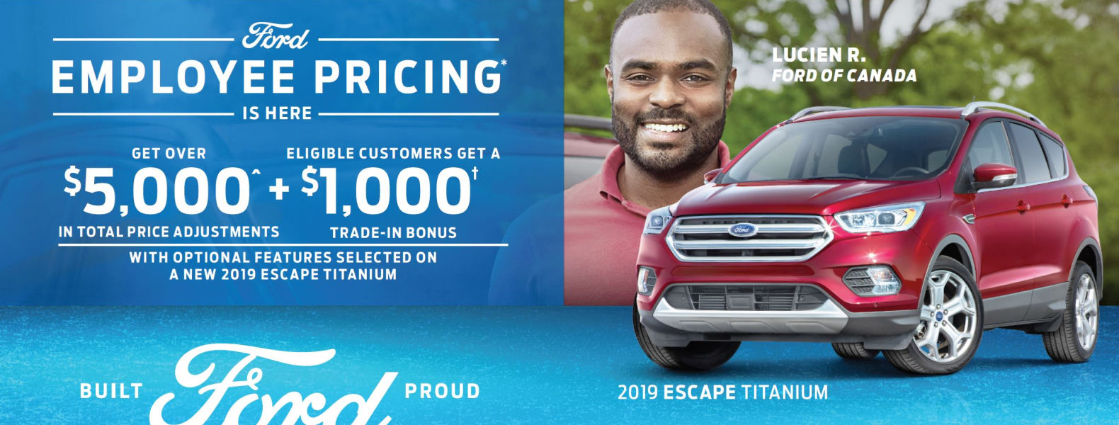 Employee Pricing Ford Escape Smiths Falls